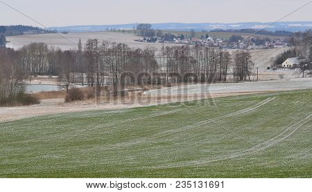 View Of Winter Landscape, South Bohemia, Czech Republic