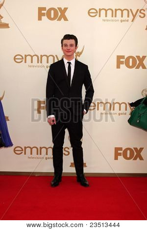 LOS ANGELES - SEP 18:  Chris Colfer arriving at the 63rd Primetime Emmy Awards at Nokia Theater on September 18, 2011 in Los Angeles, CA