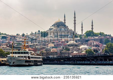 Istanbul, Turkey - Aug 18, 2015: Topkapi Palace View From The Bosforus