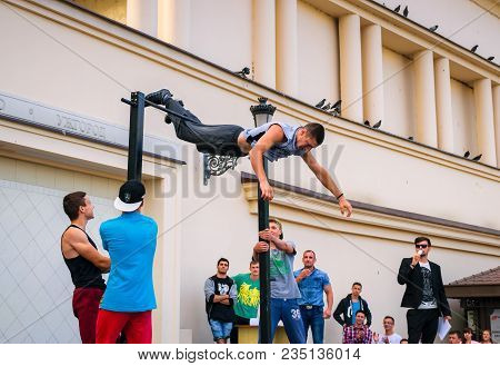 Uzhgorod, Ukraine - Jun 10, 2016: Participants Of Outdoor Sports Competition. Workout Championship I