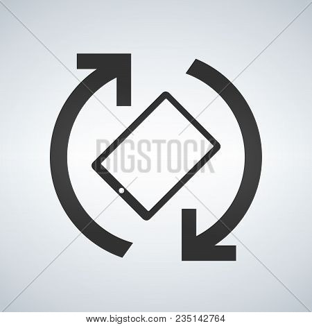 Mobile Or Tablet Screen Rotation Vector Icon, Phone Rotation Symbol. Modern, Simple Flat Vector Illu