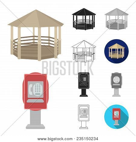 Park, Equipment Cartoon, Black, Flat, Monochrome, Outline Icons In Set Collection For Design. Walkin