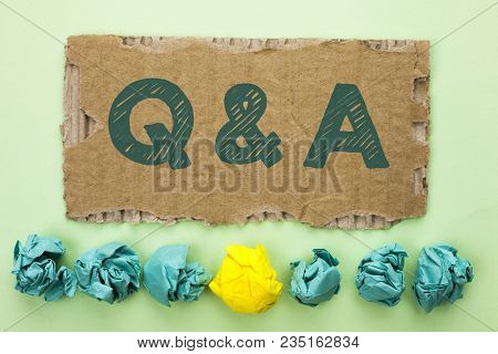 Conceptual Hand Writing Showing Q A. Business Photo Text Ask Frequently Faq Asked Question Help Solv