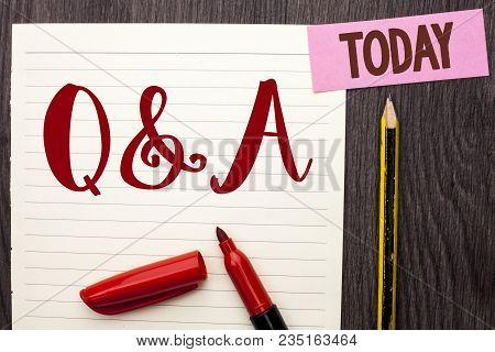 Writing Note Showing Q A. Business Photo Showcasing Ask Frequently Faq Asked Question Help Solving D
