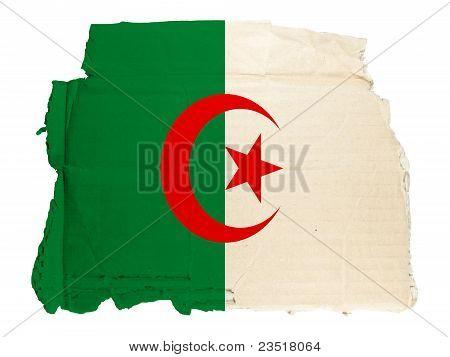 Algeria Vintage Cardboard Flag