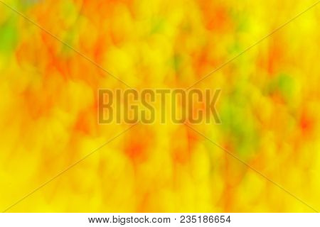 Abstract  Background, Spots And Stains. Fantasy Pattern In Yellow, Orange And Green Colors. Backgrou