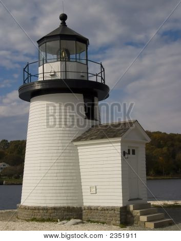 Small Seaport Lighthouse