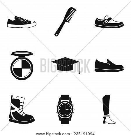 Chic Icons Set. Simple Set Of 9 Chic Vector Icons For Web Isolated On White Background