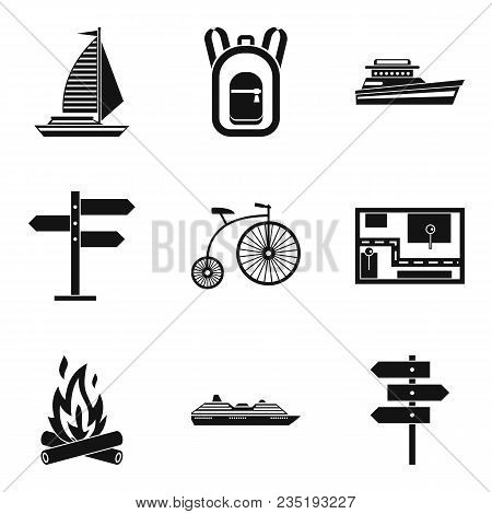 Departure Icons Set. Simple Set Of 9 Departure Vector Icons For Web Isolated On White Background