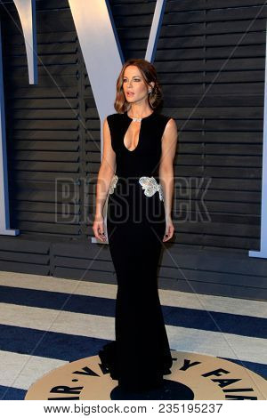 LOS ANGELES - MAR 4:  Kate Beckinsale at the 24th Vanity Fair Oscar After-Party at the Wallis Annenberg Center for the Performing Arts on March 4, 2018 in Beverly Hills, CA