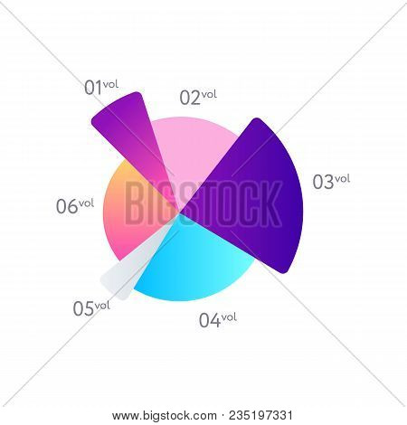 Business stats infochart isolated on white background. Infographic element for business presentation vector illustration. poster