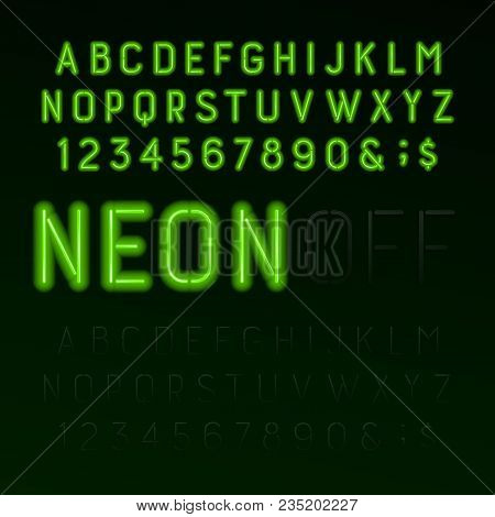 Green Neon Tube Vector & Photo (Free Trial) | Bigstock