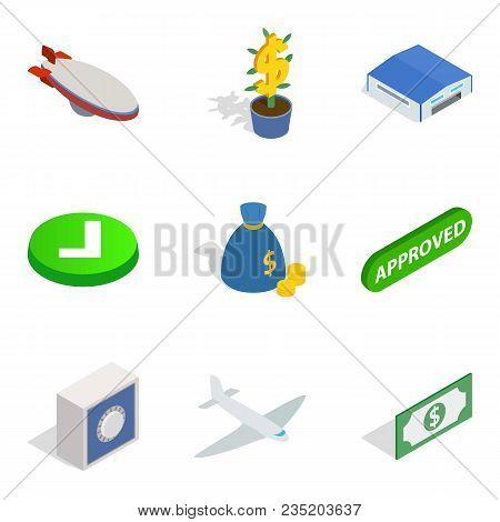 Military Dictator Icons Set. Isometric Set Of 9 Military Dictator Vector Icons For Web Isolated On W