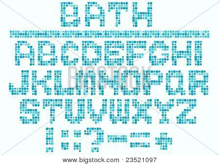 Vector Bath Alphabet