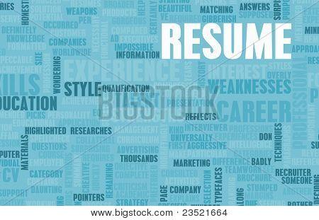 Job Resume of a Well Written CV Concept