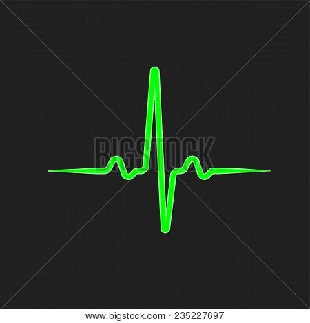 Green Isolated Pulse Line. Healthcare Background Illustration