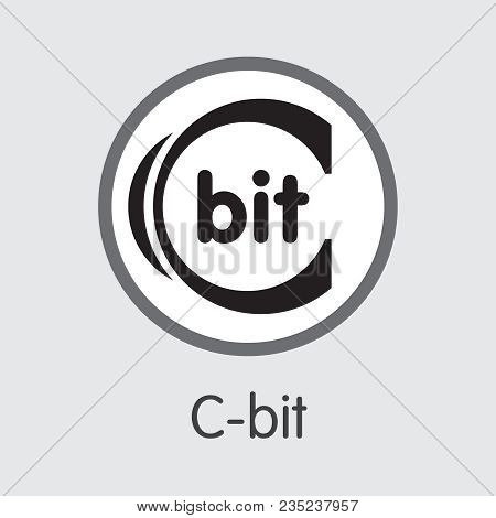 C-bit - Logo Of Fintech Industry, Finance Digitization. Modern Coin Illustration. Premium Quality Co