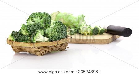 Fresh Broccoli An  Isolated On White Background