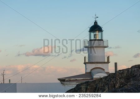 Lighthouse Of The Cap De Creus Natural Park, The Westernmost Point Of Spain, Where The Sun First Ris