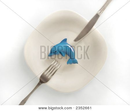 Dolphin On A Plate