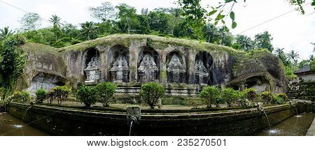 Bali, Indonesia January 09, 2018: Gunung Kawi Temple In Bali Ancient Building
