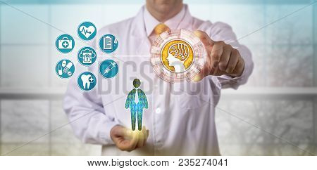 Unrecognizable Clinician Using Artificial Intelligence To Access The Medical Records Of A Male Patie