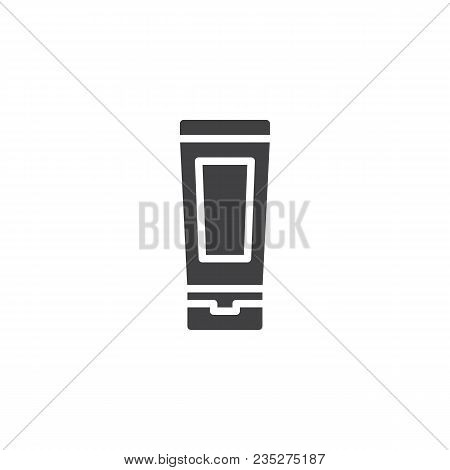 Toothpaste Tube Vector Icon. Filled Flat Sign For Mobile Concept And Web Design. Oral Hygiene Simple