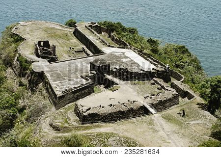 Aerial View Of Fort Sherman At Toro Point  Panama Canal  Panama