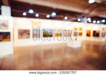 Abstract Blur Contemporary Art Gallery For Background Usage