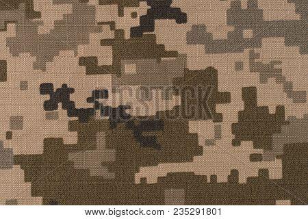 Universal Camouflage Pattern Army Combat Uniform Digital Camo. Top View.
