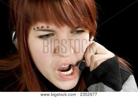 Unhelpful Call Center Girl