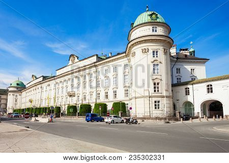 The Hofburg Imperial Palace Is A Former Habsburg Palace In Innsbruck, Austria. Innsbruck Is The Capi