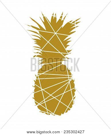 Abstract Pineapple. Pineapple Vector Illustration. Pineapple Triangle Abstract Logo, Symbol, Icon, G