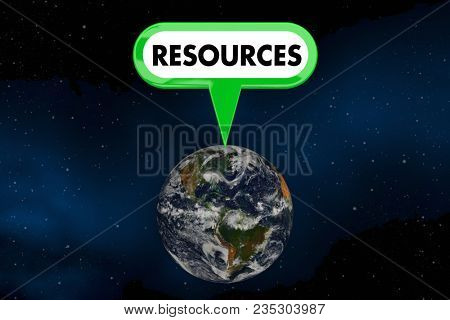 Resources Planet Earth Environmental Protection 3d Illustration - Elements of this image furnished by NASA