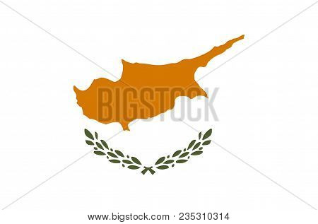 Cypriot National Flag, Official Flag Of Cyprus Accurate Colors, True Color