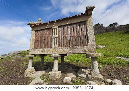 Pile Granary In Baiona, Pontevedra, Galicia, Spain