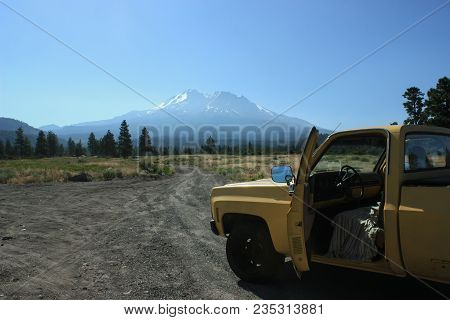 Mt. Shasta, California, United States, 15.06.2015 : Only Road Trip Through The Norther Californian W