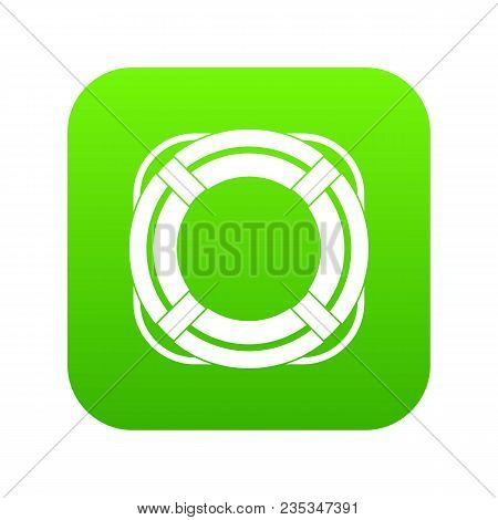 Lifebuoy Icon Digital Green For Any Design Isolated On White Vector Illustration