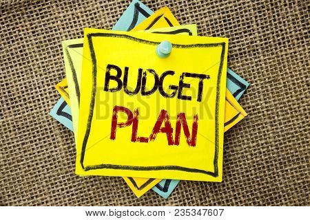 Text Sign Showing Budget Plan. Conceptual Photo Accounting Strategy Budgeting Financial Revenue Econ