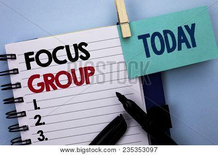 Conceptual Hand Writing Showing Focus Group. Business Photo Text Interactive Concentrating Planning