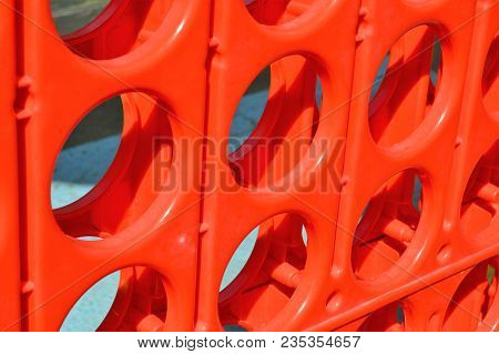 Red Plastic Giant Connect Four Game Board Angled