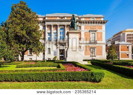 The Prado Museum or Museo del Prado is the main Spanish national art museum in the centre of Madrid. Madrid is the capital of Spain. poster