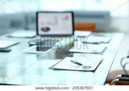 Workplace Of The Businessman.photo With Copy Space .business Concept