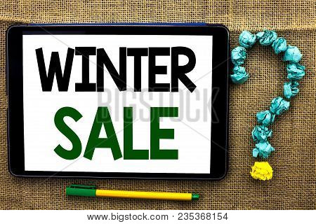 Conceptual Hand Writing Showing Winter Sale. Business Photo Text Promotion Offer Shop Discount Seaso