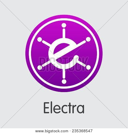 Electra - Cryptographic Currency Web Icon. Vector Element Of Digital Currency Icon On Grey Backgroun