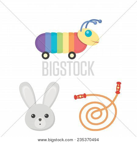 Children Toy Cartoon Icons In Set Collection For Design. Game And Bauble Vector Symbol Stock Illustr