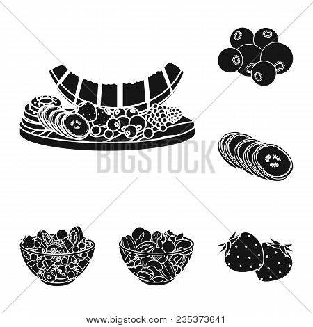 Dessert Fragrant Black Icons In Set Collection For Design. Food And Sweetness Vector Symbol Stock  I