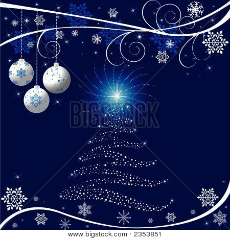 Christmas Abstract Background, Vector