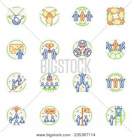 Teamwork Icon Vector Teambuilding Logo And Cooperation Work Sign Of Business Partnership Illustratio