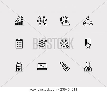 Commerce Icons Set. Price Tag And Commerce Icons With Compliance, Ecommerce And Social Media. Set Of